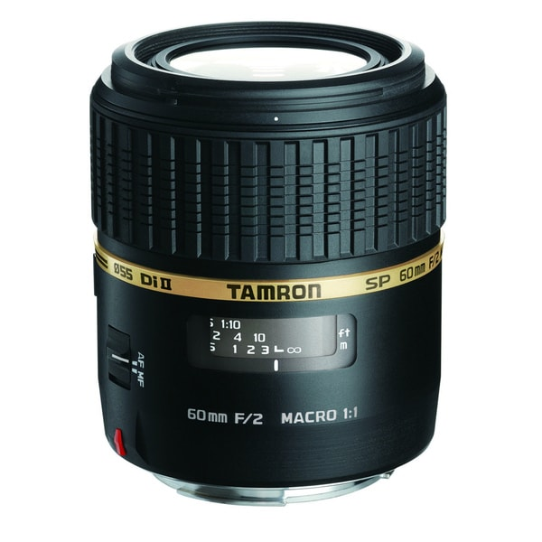 Tamron SP AF60mm f/2 DI II LD (IF) 1:1 Macro Lens for Nikon AF Digital SLR Cameras (New in Non-Retail Packaging)