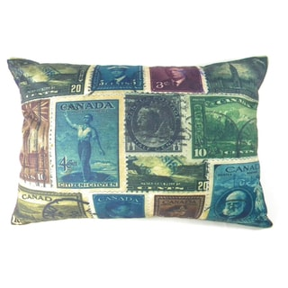 Canada Stamp Collection Printed Cushion Cover