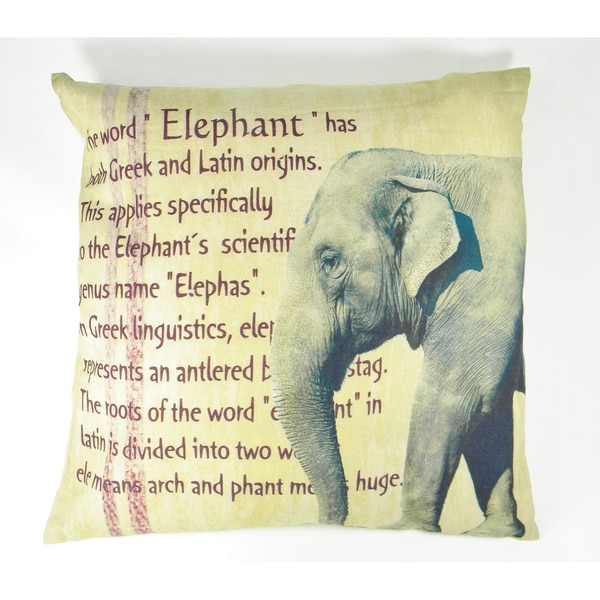 Elephant with Definition Printed Cushion Cover