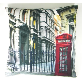 Red British Phone Booth Printed Cushion Cover
