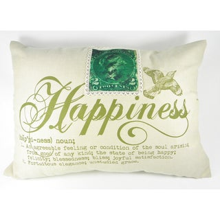 Happiness Definition Printed Cushion Cover