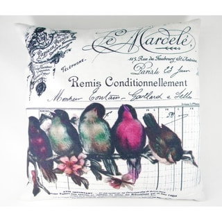 French Chic Birds On A Wire Printed Cushion Cover