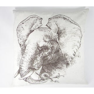 Elephant Silk-Screen Printed Cushion Cover