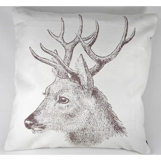 Deer Silk-Screen Printed Cushion Cover
