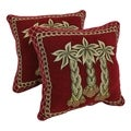 Blazing Needles Chenille Corded 'Palm Trees' Throw Pillows (Set of 2)