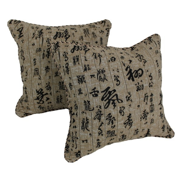 Blazing Needles Tapestry Corded 'Oriental' Throw Pillows (Set of 2)