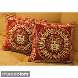 Blazing Needles Chenille 'Suns' Corded Throw Pillows (Set of 2)