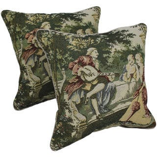 Tapestry Corded 'Victorian Bench' Throw Pillows (Set of 2)