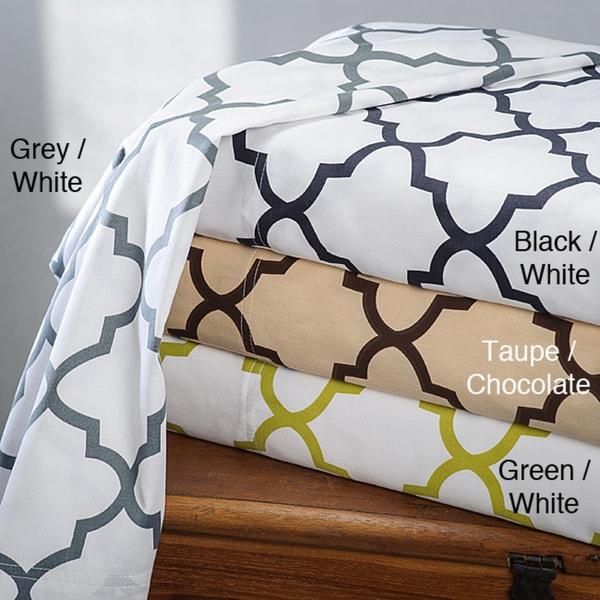 Charleston 100-percent Cotton Print Sheet Set