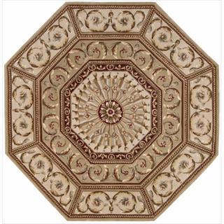 Nourison Hand-tufted Versailles Palace Sage Rug (6' x 6') Octagon