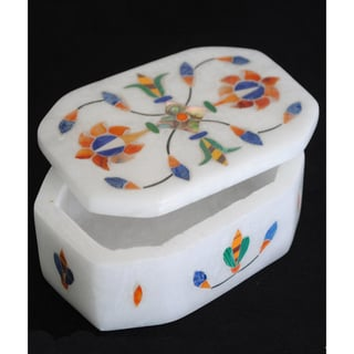 Marble Hexagonal Jewelry Box (India)