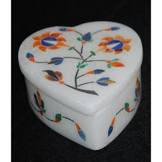 Marble Heart Shaped Jewelry Box (India)