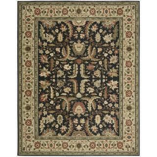 Living Treasures Midnight Wool Rug (5'6 x 8'3)
