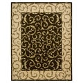 Nourison Hand-tufted Versailles Palace Brown Rug (9'6 x 13'6)