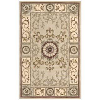 Nourison Hand-tufted Versailles Palace Beige/Red Rug (3'6 x 5'6)