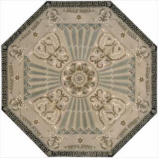 Nourison Hand-tufted Versailles Palace Beige/ Green Rug (6' x 6') Octagon