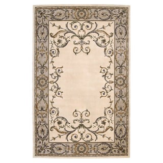 Nourison Hand-tufted Versailles Palace Ivory Rug (3'6 x 5'6)