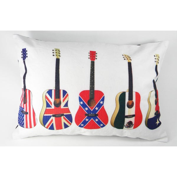 Flags on Guitars Printed Cushion Cover