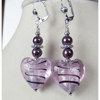 'Gilda' Puffed Heart Dangle Earrings