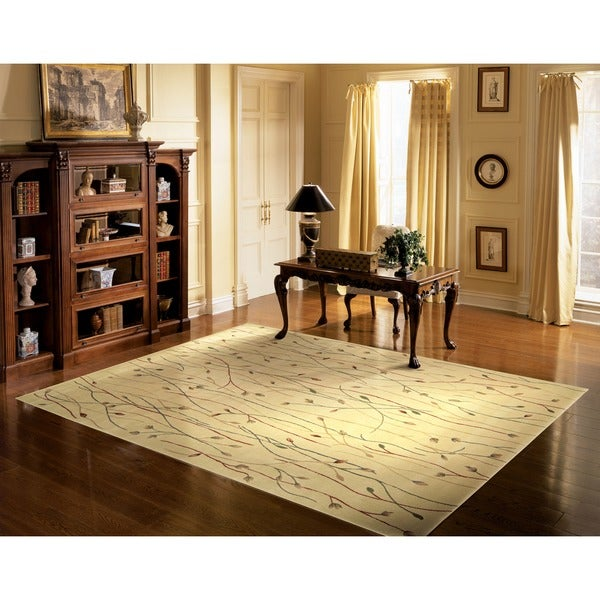 Cambridge 'Budding Vine' Ivory Rug (3'6 x 5'6)
