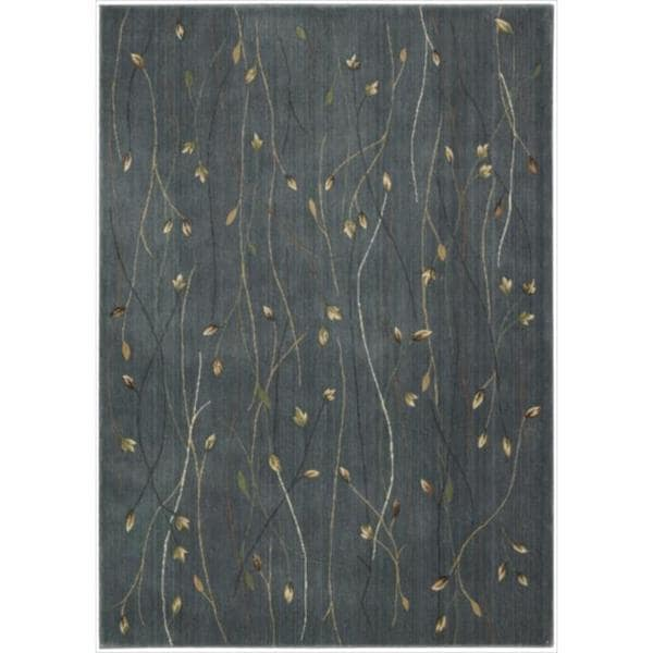Cambridge Budding Vine Blue Rug (2' x 2'9)