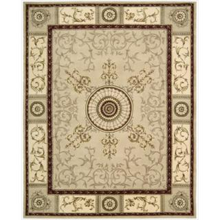 Nourison Hand-tufted Versailles Palace Beige/Red Rug (8' x 11')