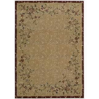 Cambridge Flowering Vines Beige/ Red Rug (9'6 x 13')