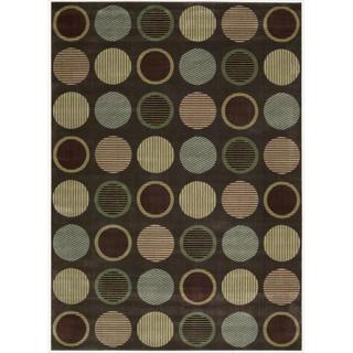 Cambridge Striated Orbs Chocolate Rug (7'9 x 10'10)