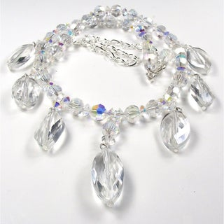 Silverplated Clear Crystal Wedding Jewelry Set