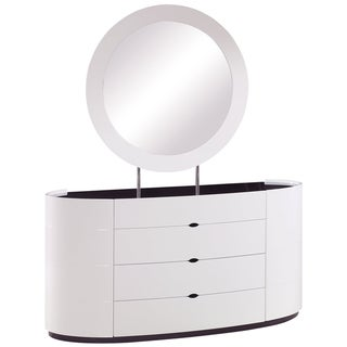 Gia High-gloss White Wenge Edge Dresser