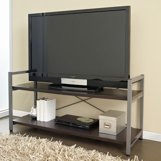 Hudson TV Stand with Espresso Shelves