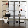 Storage Bookcase with Espresso Shelves