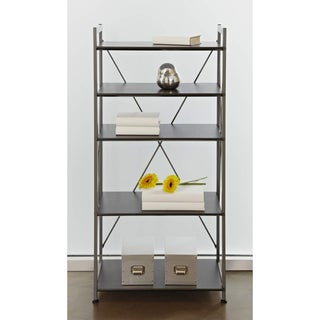 Metal Frame Bookcase with Five Shelves