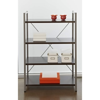 Metal Frame Bookcase with Four Shelves