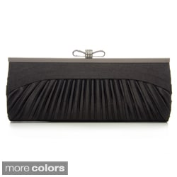 J. Furmani Women's Pleated Satin Clutch