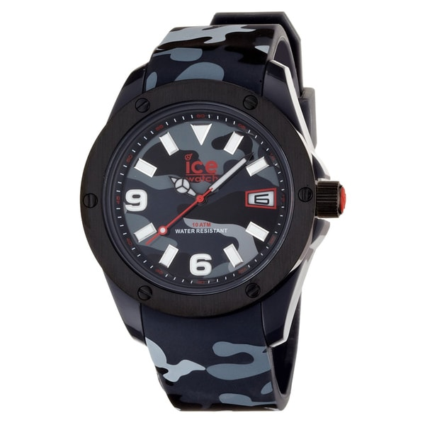 Ice-Watch Men's Army Collection Black Camouflage Watch