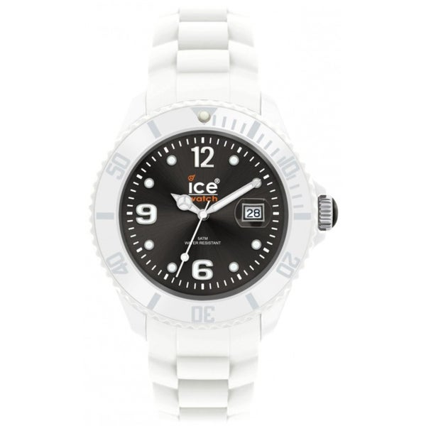 Ice-Watch Men's White Strap Black Dial Watch