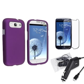 BasAcc Case/ Protector/ Car Charger for Samsung Galaxy S III/ S3