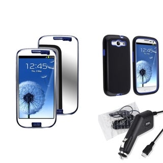 BasAcc Case/ LCD Protector/ Car Charger for Samsung Galaxy S III/ S3