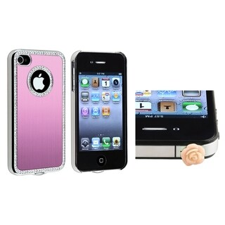 BasAcc Light Pink Bling Case/ Rose Dust Cap for Apple iPhone 4/ 4S