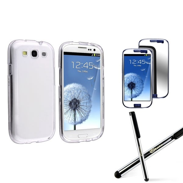 INSTEN Clear Phone Case Cover/ Protector/ Stylus for Samsung Galaxy S III/ S3