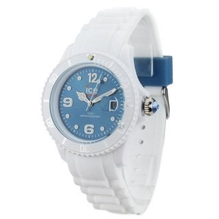 Ice-Watch Men's Jeans Blue Dial White Silicone Strap Watch