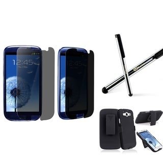 INSTEN Phone Case Cover With Holster/ Protector/ Stylus for Samsung Galaxy S III/ S3