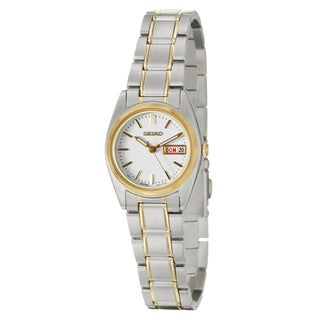 Seiko Women's SXA118 Yellow Goldplated Stainless Steel Watch