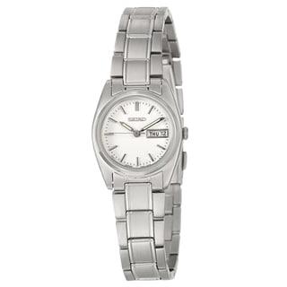 Seiko Women's SXA117 Stainless Steel White Dial Watch