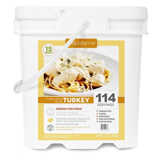 Lindon Farms Freeze Dried Diced Turkey (114 Servings)
