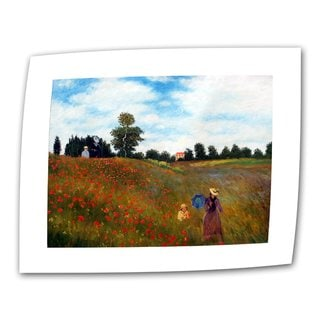 Claude Monet 'Red Poppies at Argenteuil' Flat Canvas