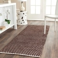 Hand-loomed Moroccan Brown Cotton Rug (2&#39;3 x 7&#39;)