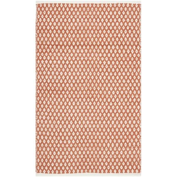 Safavieh Hand-loomed Moroccan Orange Cotton Rug (2'6 x 4')