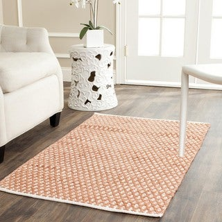 Hand-loomed Moroccan Orange Cotton Rug (3' x 5')
